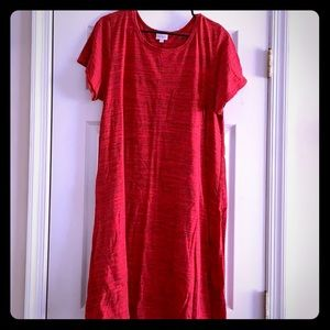 Red Heathered Carly Dress